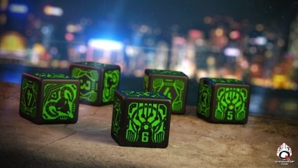 Set de 6 dados d6 Q-Workshop Shadowrun Decker en internet