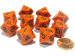 Set de 10 D10 Chessex Speckled Fire