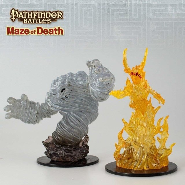 Pathfinder Battles: Maze of Death - Air and Fire Elemental Lord - comprar online