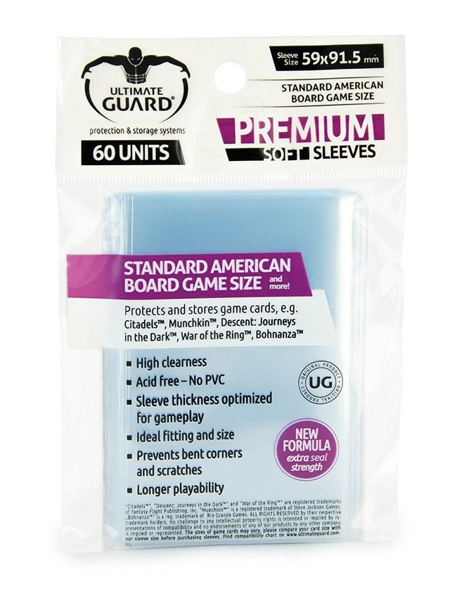 Ultimate Guard Standard American Sleeves (x60) en internet
