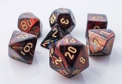 Set de 7 Dados Chessex Scarab Blue-Blood/Gold
