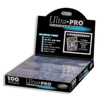 Ultra PRO Platinum Series (Páginas de folios 9-pocket x100) en internet