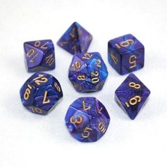Set de 7 Dados Chessex Lustrous Purple/gold en internet