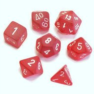 Set de 7 Dados Chessex Frosted Red/white - comprar online