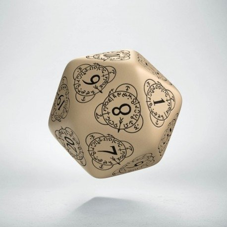 D20 Level Counter Beige & Black