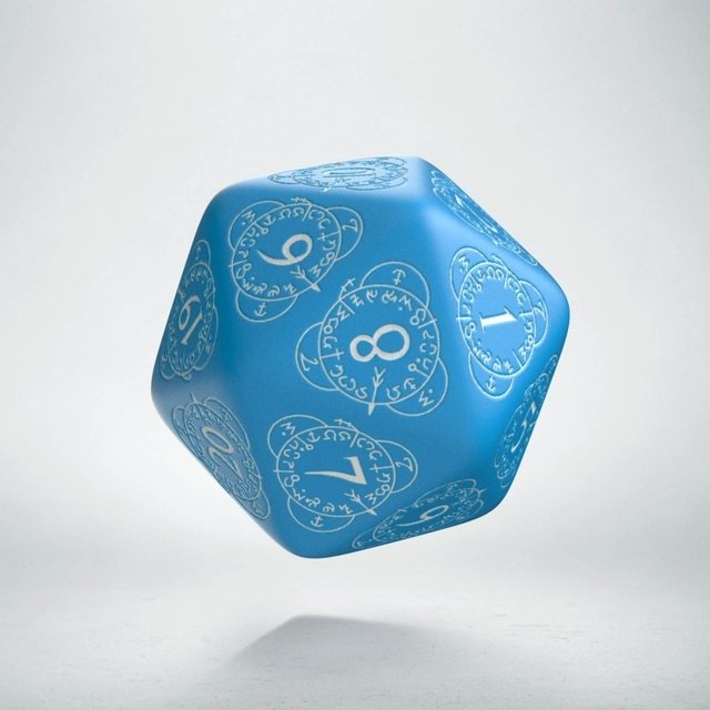 D20 Level Counter Blue & White