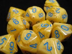Set de 10 D10 Chessex Yellow/Blue - EL OGRO ALEGRE