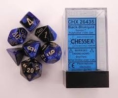 Set de 7 Dados Chessex Gemini Black-Blue/gold en internet