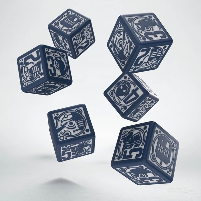 Set de 6 dados D6 Q-Workshop Doctor Who - comprar online