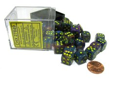 Bloque de 36 D6 Chessex Festive Rio/yellow 12mm