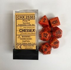 Set de 7 Dados Chessex Speckled Polyhedral Fire en internet