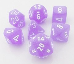 Set de 7 Dados Chessex Frosted Purple/white