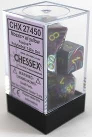 Set de 7 Dados Chessex Festive Mosaic/yellow en internet