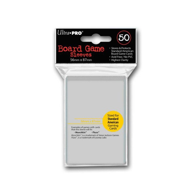 Ultra-Pro Board Game Sleeves: Standard American (56 x 87 mm) (50 u.) - comprar online