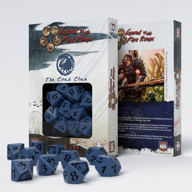 Set de 10 D10 Q-Workshop Legend of the Five Rings: The Crab Clan - comprar online