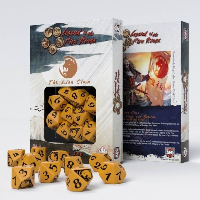 Set de 10 D10 Q-Workshop Legend of the Five Rings: The Lion Clan - comprar online