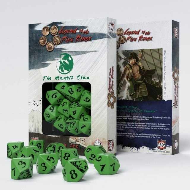 Set de 10 D10 Q-Workshop Legend of the Five Rings: The Mantis Clan - comprar online