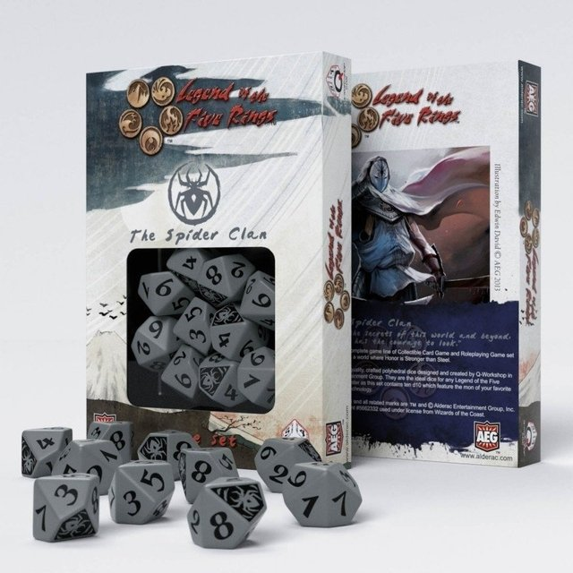 Set de 10 D10 Q-Workshop Legend of the Five Rings: The Spider Clan - comprar online