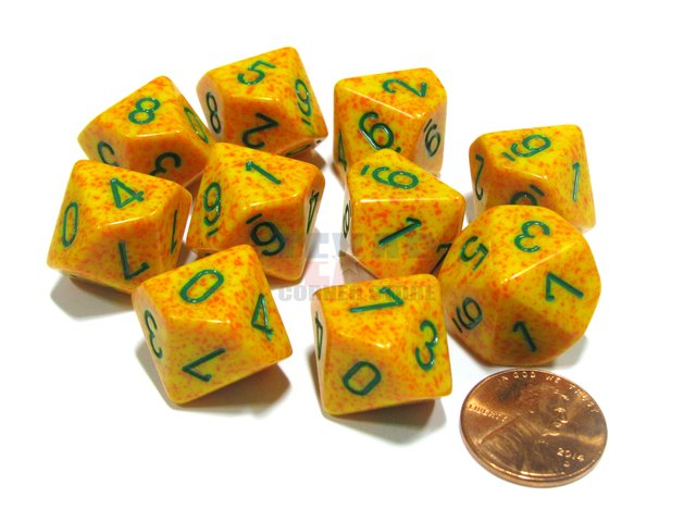 Set de 10 D10 Chessex Speckled Lotus