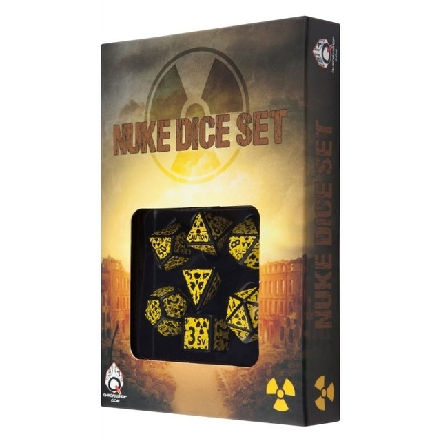 Set de 7 Dados Q-Workshop Nuke Revised Black & Yellow en internet