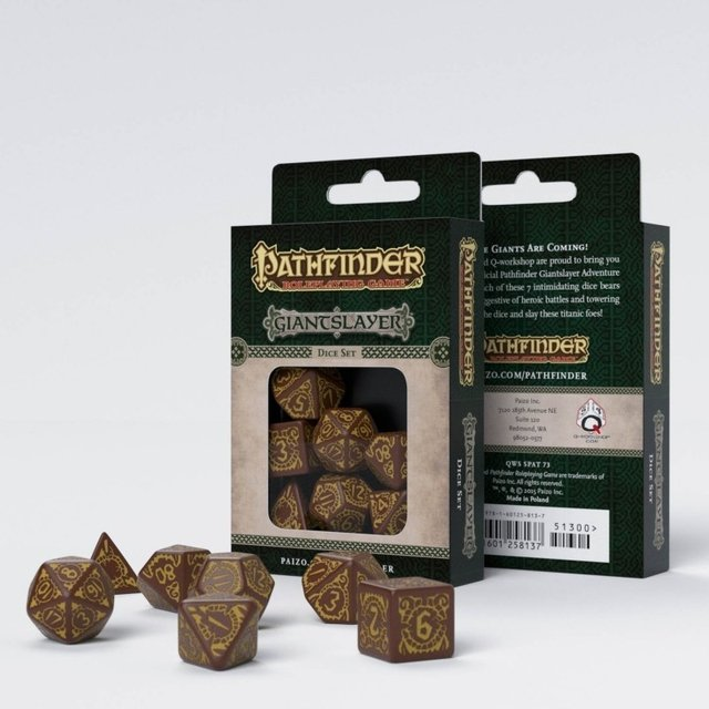 Set de 7 Dados Q-Workshop Pathfinder Giant Slayer - comprar online