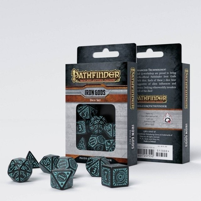 Set de 7 Dados Q-Workshop Pathfinder Iron Gods - comprar online