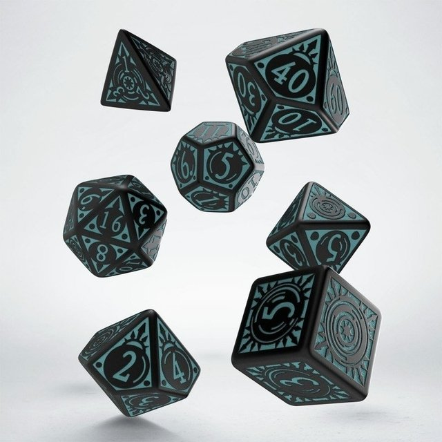 Set de 7 Dados Q-Workshop Pathfinder Iron Gods
