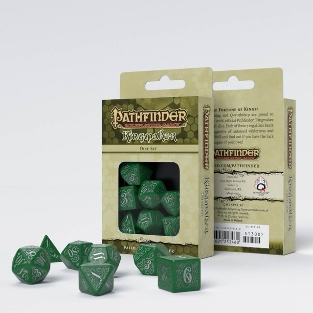Set de 7 Dados Q-Workshop Pathfinder Kingmaker - comprar online