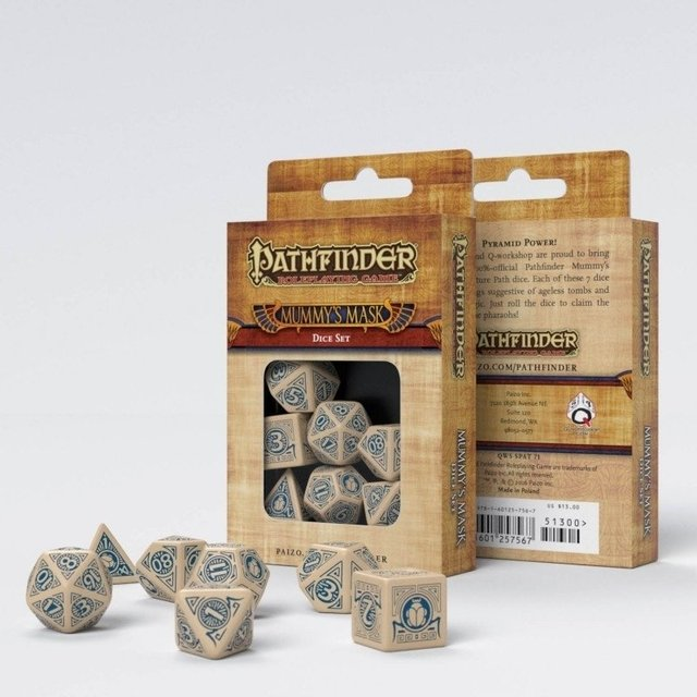 Set de 7 Dados Q-Workshop Pathfinder Mummy's Mask - comprar online