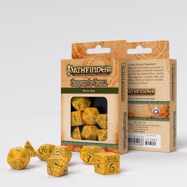 Set de 7 Dados Q-Workshop Pathfinder Serpent's Skull - comprar online