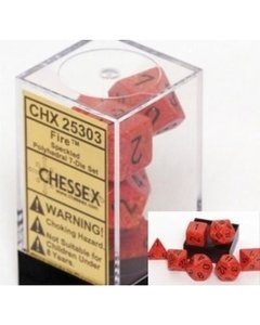 Set de 7 Dados Chessex Speckled Polyhedral Fire - EL OGRO ALEGRE
