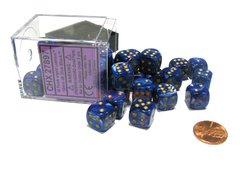 Bloque de 36 D6 Chessex Lustrous Purple/gold 12mm