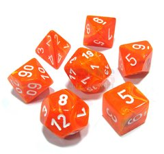 Set de 7 Dados Chessex Vortex Solar/white en internet