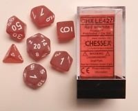 Set de 7 Dados Chessex Frosted Red/white - tienda online