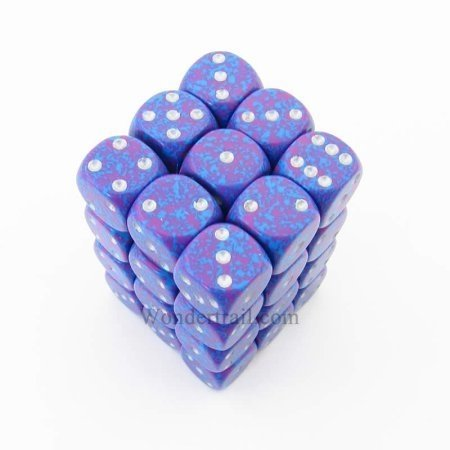 Bloque de 36 D6 Chessex Speckled Silver Tetra 12mm - comprar online