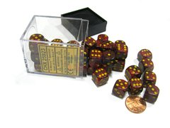 Bloque de 36 D6 Chessex Speckled Mercury 12mm