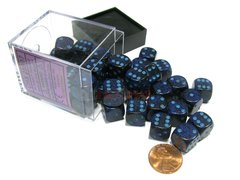 Bloque de 36 D6 Chessex Speckled Cobalt 12mm