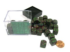 Bloque de 36 D6 Chessex Speckled Earth 12mm