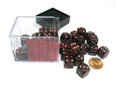 Bloque de 36 D6 Chessex Speckled Silver Volcano 12mm