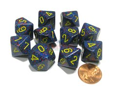 Set de 10 D10 Chessex Speckled Twilight