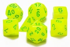Set de 7 Dados Chessex Vortex Electric Yellow/Green