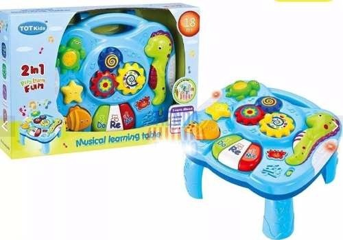 Mesa didactica infantil bebe juguete musical sonido for Mesa didactica chicco