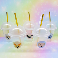 Vasos smoothie puppies  x5 unidades