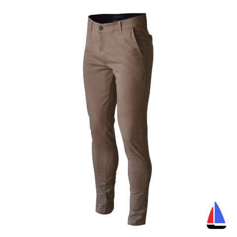 Pantalon Chino Marron Oscuro El Don
