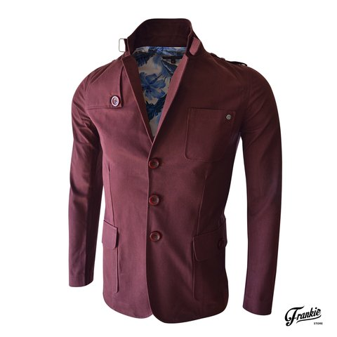Saco Tennesse Slim Fit Bordo Velo Santo
