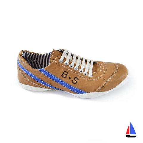 Zapatillas Retro Marrón/Azul Blood South - comprar online