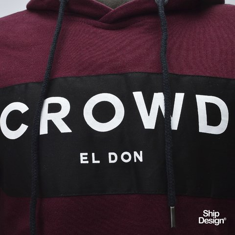 Buzo Crowd Bordo El Don - comprar online
