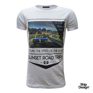 Remera Sunset Blanca Velo Santo