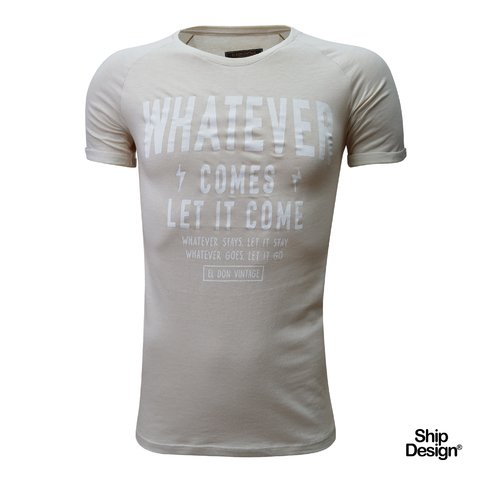 Remera Whatever Beige El Don