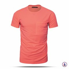 Remera Pocket Basic Coral VCP